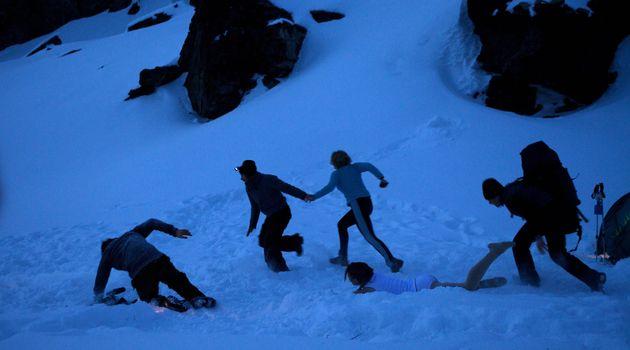 「ディアトロフ峠事件」を題材にした2013年の米英ロ合作映画「ディアトロフ・インシデント」の1シーン(AFPPHOTO / A COMPANY