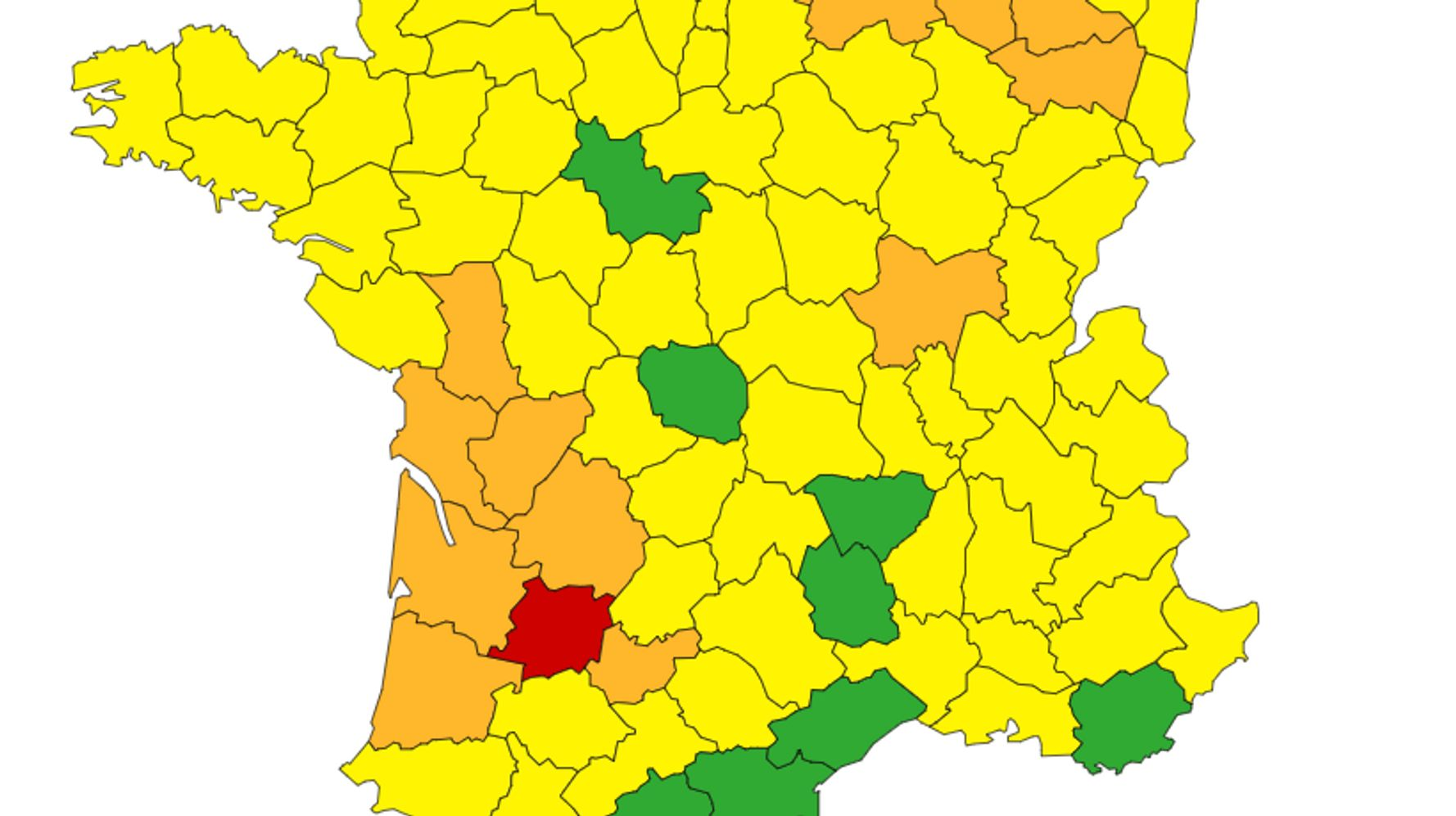 Le Lot-et-Garonne toujours placé en alerte rouge par Météo France