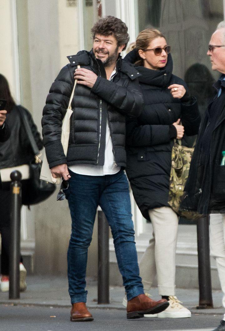 Anne Igartiburu y Pablo Heras-Casado en París en noviembre de 2019.