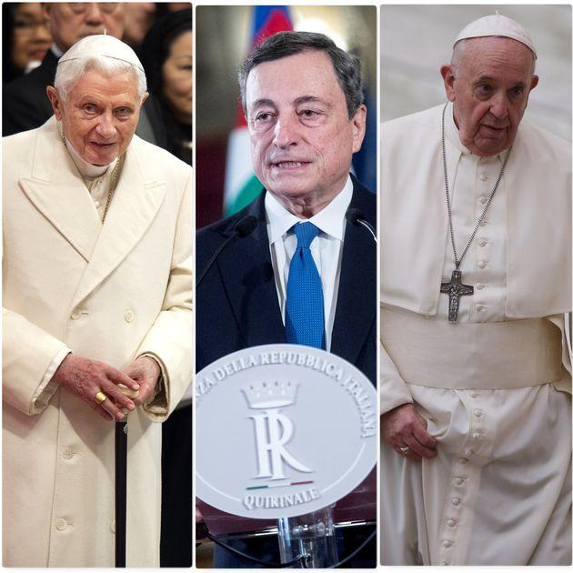 Papa Benedetto XVI - Mario Draghi - Papa