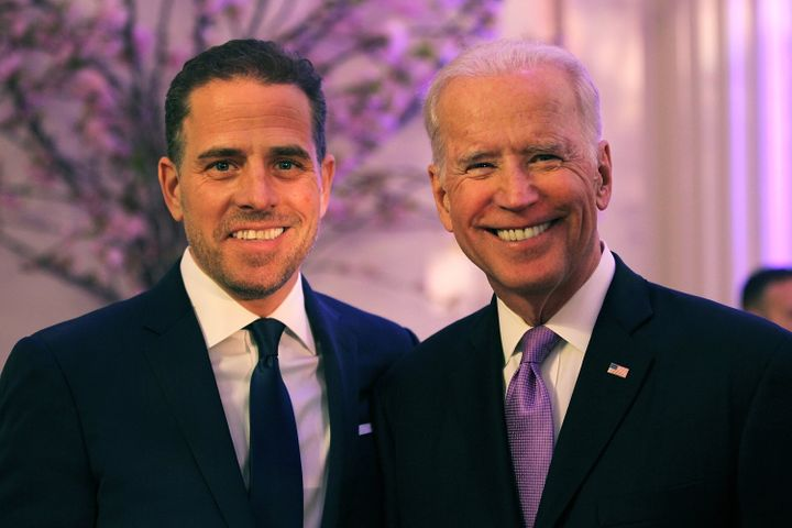 Hunter Biden, seen with his father in 2016,is a lawyer and former lobbyist. He has publicly struggled with substance ab
