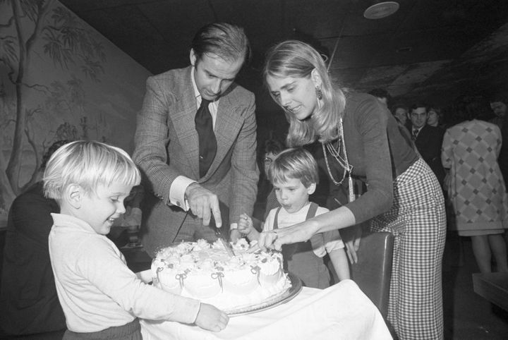 Hunter Biden and his brother Beau Biden are seen in 1972 as children with their parents, then-Senator-elect Joseph Biden and