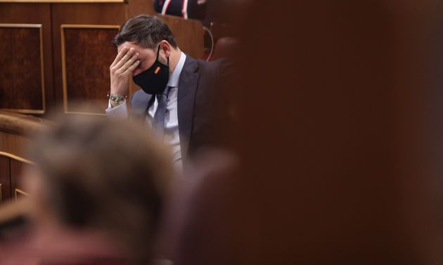 Santiago Abascal, en el Congreso, el pasado 22 de