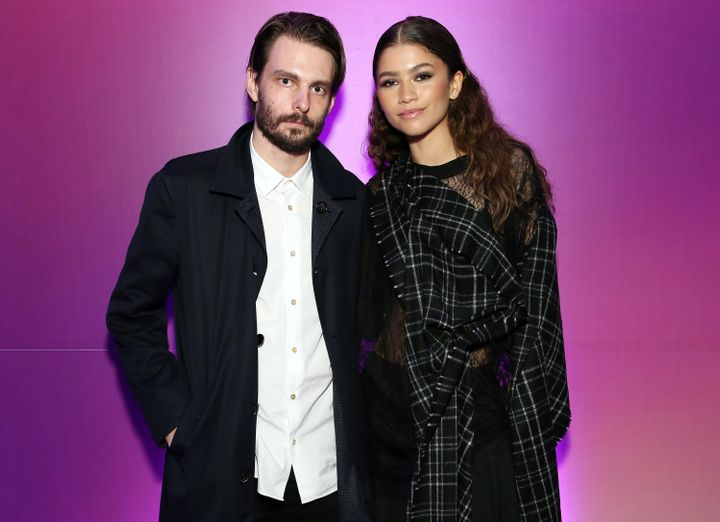 "Sam Levinson and Zendaya at a New York screening of ""Euphoria"" on June 14, 2019."