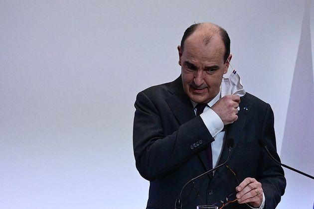Le Premier ministre Jean Castex, lors d'une conférence de presse sur le Covid-19, le 4 février