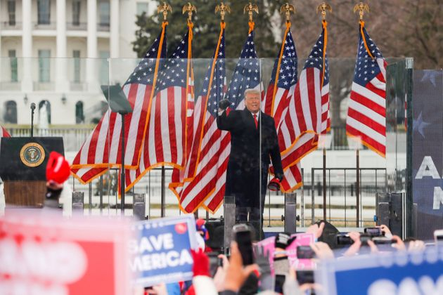 Donald Trump holds a rally to contest the certification of the presidential election results on January