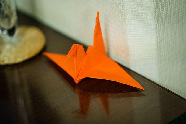 折り鶴には平和への願いが込められている