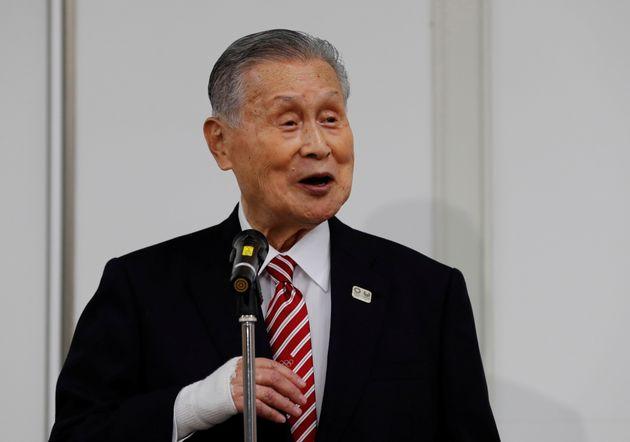 会見する森喜朗会長(2020年2月4日)
