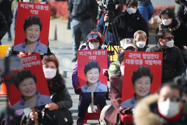 박근혜 전 대통령 석방을 촉구하는 지지자들의