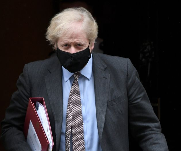 Prime Minister Boris Johnson leaves 10 Downing Street to attend Prime Minister's Questions at the Houses...