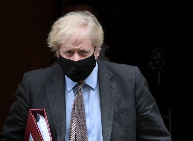 Prime minister Boris Johnson leaves 10 Downing