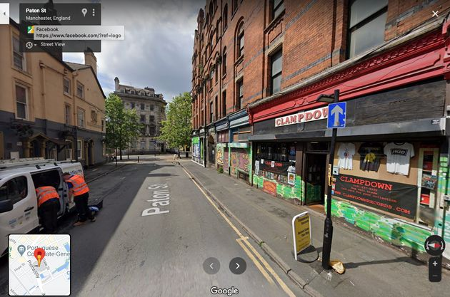 Paton Street in Manchester on Google Street View as it is seen