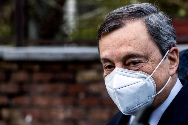 Italian designated-prime minister Mario Draghi leaves his home in Rome, Italy, 04 February 2021. ANSA/ANGELO