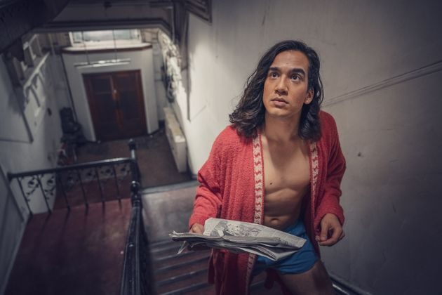 Ash (Nathaniel Curtis) in the Pink Palace's communal