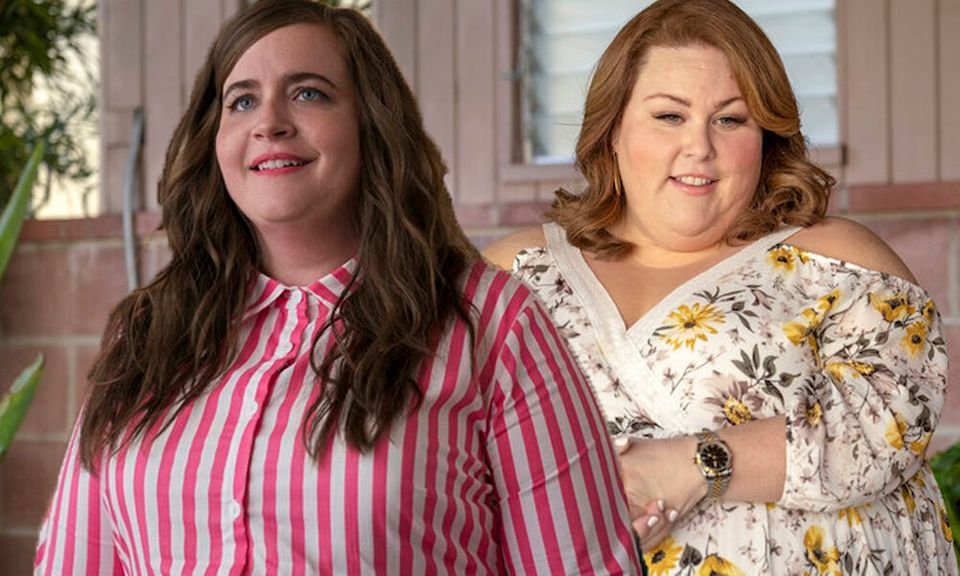 (L-R) Aidy Bryant in Shrill and Chrissy Metz in This Is