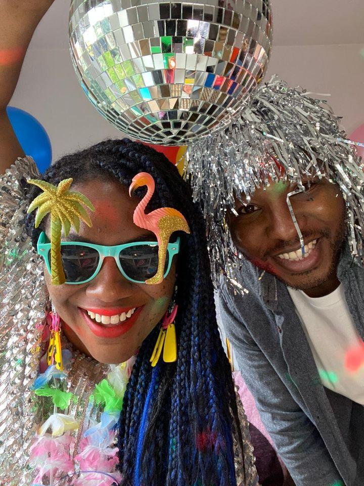 Yvadney Davis and her husband,Emmanuel.