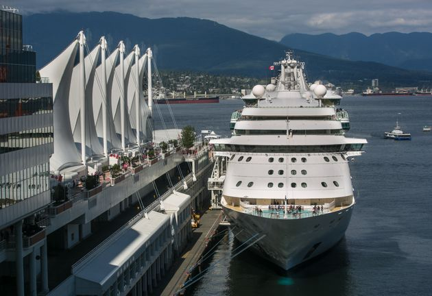 A Royal Caribbean cruise ship is berthed on July 1, 2016, in Vancouver. Canada announced this week that...
