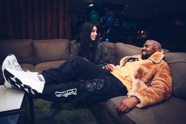 Kim Kardashian y Kanye West en diciembre de 2018.