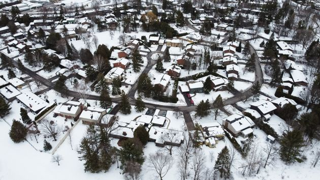 An aerial view of houses in Kanata, a suburb of Ottawa. The region has seen a 12-per-cent jump in the...