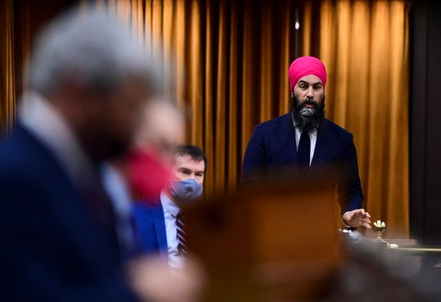 NDP Leader Jagmeet Singh rises during question period in the House of Commons on Parliament Hill in Ottawa...