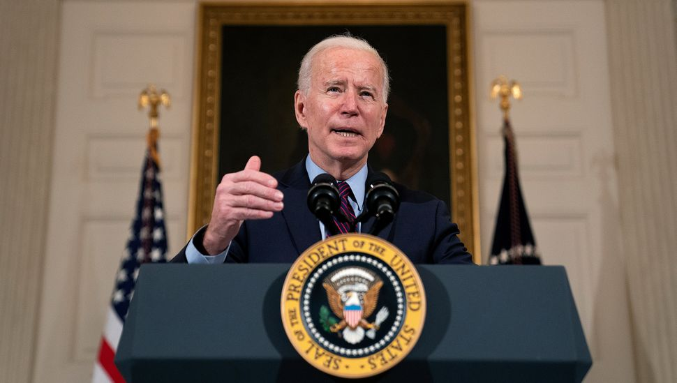 President Joe Biden took to the podium on Friday to make remarks on the state of the economy amid the pandemic and the need f
