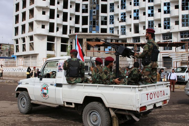 Security forces loyal to the U.A.E.-backed Southern Transitional Council arein the southern port city of Aden, Yemen, on Dec.