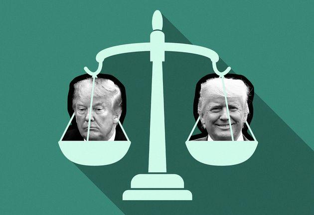 Ce que Donald Trump risque avec son 2e procès en destitution (illustration Maxime Bourdeau/Le HuffPost...