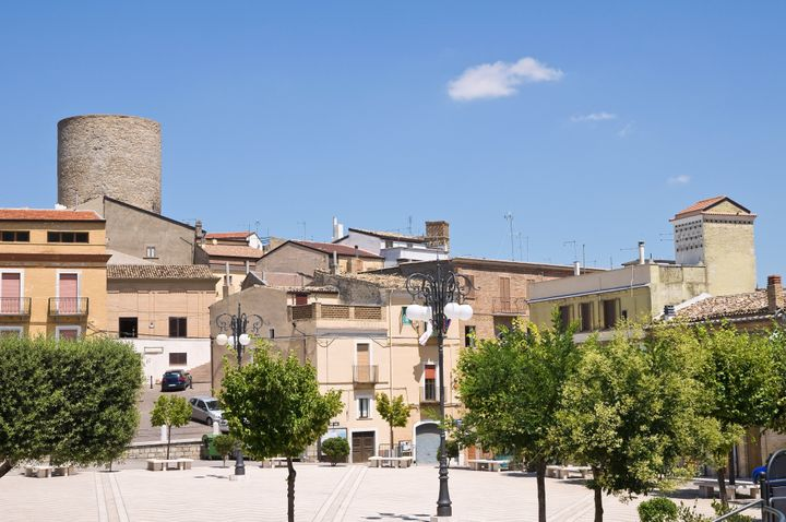 Panoramic view of Biccari. Puglia. Italy.