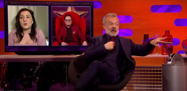 Graham had a shock during the Big Red Chair segment of his chat show on