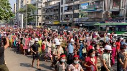 Tens Of Thousands Take To The Streets To Protest Myanmar