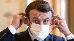 Ces photos de Macron effectuant les gestes barrières valent le