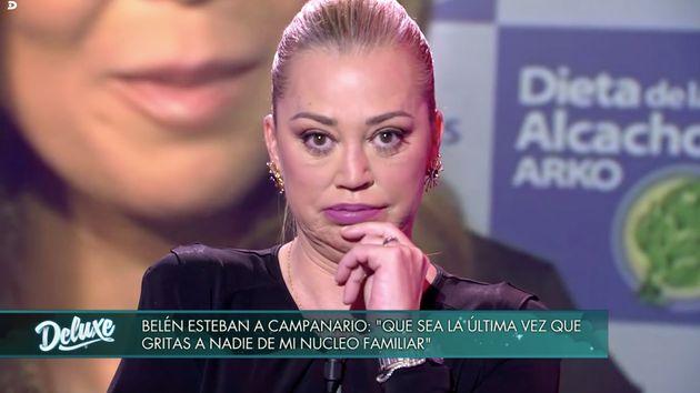 Belén Esteban responde a María José Campanario en 'Sábado Deluxe'
