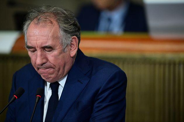 François Bayrou photographié au Conseil économique et social (Cese) en septembre...