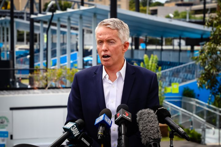 CEO Craig Tiley of Tennis Australia talks during a press conference on Thursday 4 February 2021.