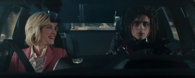 Edgar Scissorhands takes his mum for a spin in the new