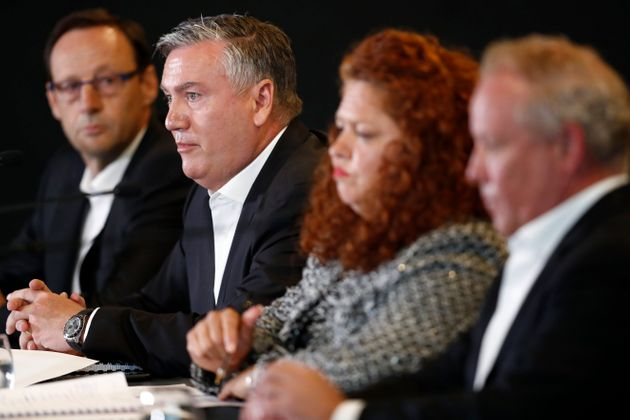The press conference, which included Collingwood CEO Mark Anderson, President Eddie McGuire, Collingwood Integrity Committee members Jodie Sizer and Peter Murphy, was labelled as