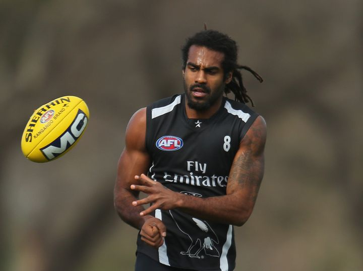 Heritier Lumumba played 199 games with the Magpies from 2005-14.