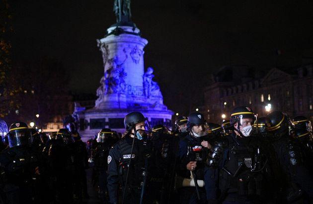 La manifestation s'était élancée ce jour-là de Châtelet pour rejoindre la place de la