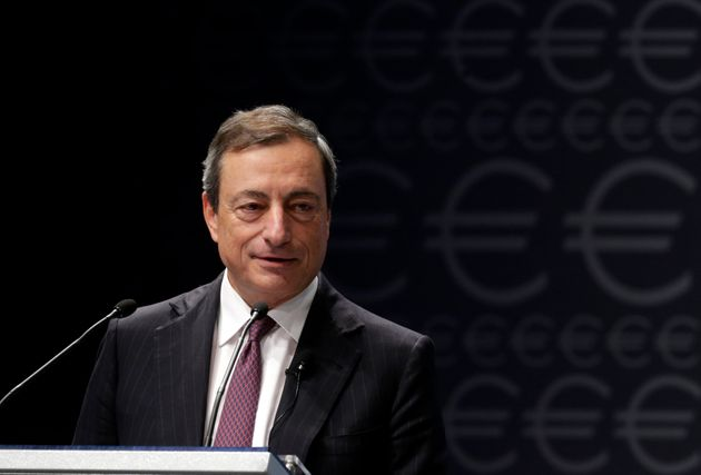 European Central Bank President Mario Draghi speaks during the Euro Conference Latvia 2013 in Riga September...