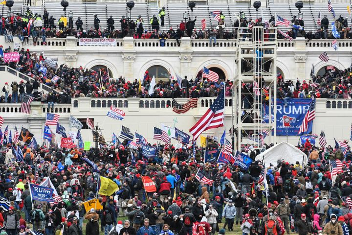 """The Capitol building in Washington, D.C. was breached by thousands of protesters during a """"Stop The Steal"""" rally in support o"""