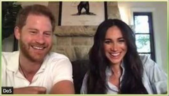 Prince Harry and Meghan Markle surprised students over the weekend by joining their poetry class on Zoom.