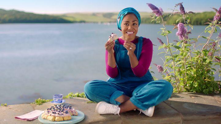 """The Great British Bake Off"" champion Nadiya Hussain in her new show, ""Nadiya Bakes,"" which premieres Friday on Netflix."
