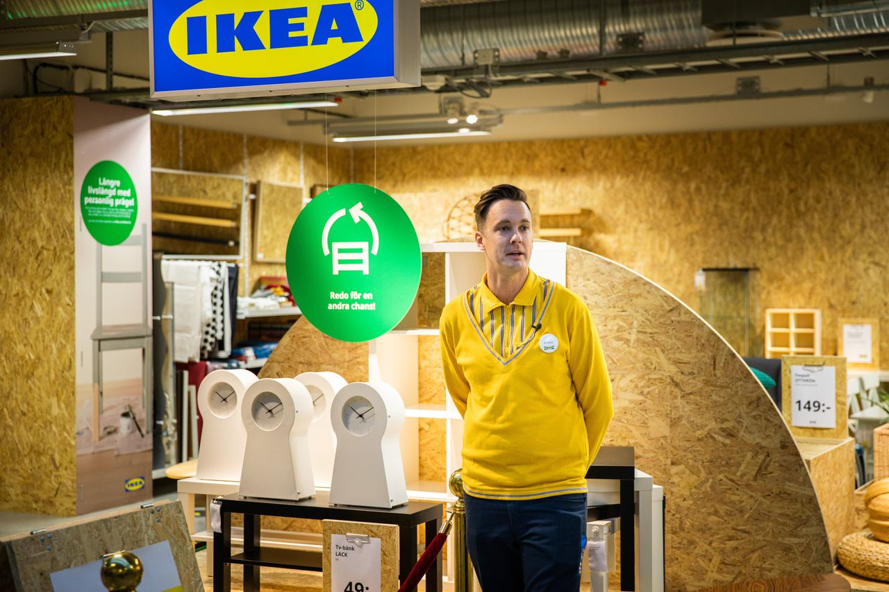 """Ikea opened its first secondhand pop-up store in Eskilstuna, Sweden, in November 2020. The company plans to put """"circular hubs,"""" where it will sell reused or recycled products, in half its locations by the end of 2021."""