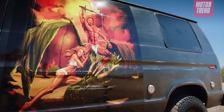 """Dax Shepard's van mural on """"Top Gear America."""""""