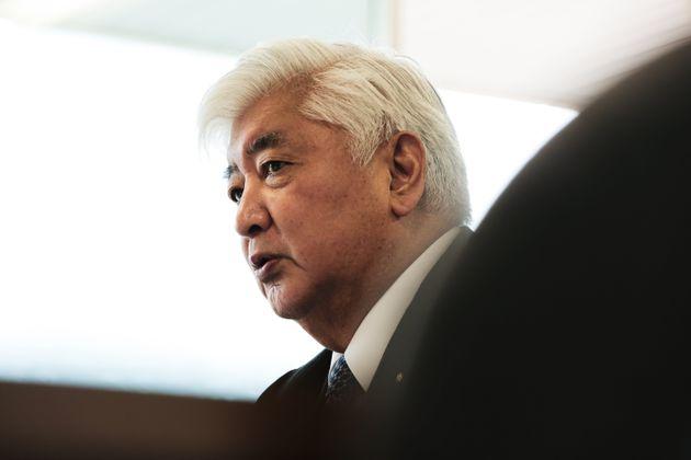 外務省の見解を批判する中谷氏