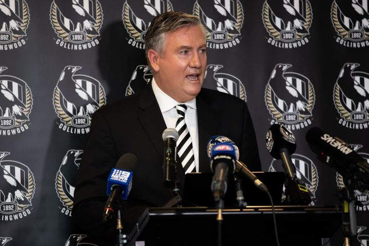 Eddie McGuire stood down as Collingwood Football Club president on Tuesday