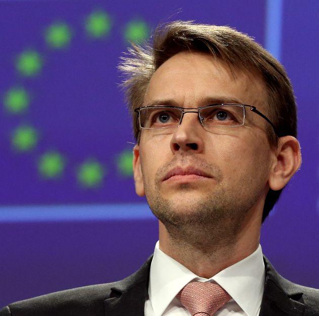 Peter Stano,portavoz del alto representante para la Política Exterior de la UE, en una rueda...