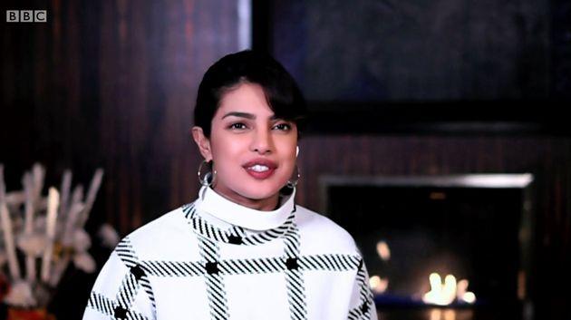 Priyanka Chopra speaking from her home in