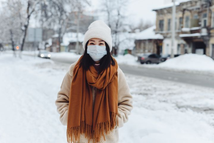 Un masque tient chaud en période de grand froid, mais il peut vite devenir humide...voir geler.
