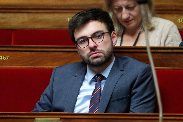 Le député LREM Pierre Henriet photographié à l'Assemblée nationale...